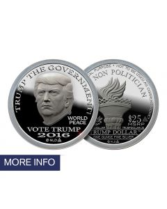 First Day of Issue Silver Trump Dollar (1 Week Ship Time)