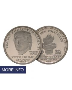Silver Trump Dollar – Type I (14 Day Ship Time)