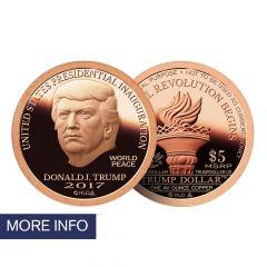 2017 Copper Inaugural Trump Dollar