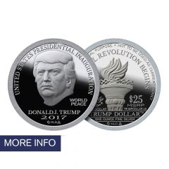 2017 Inaugural Trump Dollar Silver Brilliant Uncirculated
