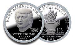 2020 Silver Trump Dollar