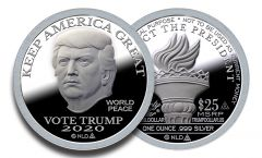 2020 First Day of Issue Silver Trump Dollar
