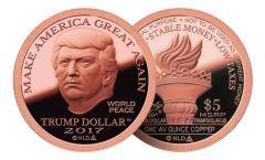 2017 Copper MAGA Trump Dollar