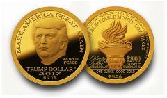 2017 Gold MAGA Trump Dollar