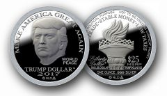 2017 Silver MAGA Trump Dollar