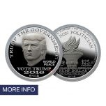 2016 First Day of Issue Silver Trump Dollar