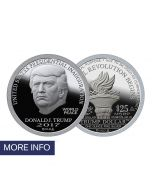2017 First Day of Issue Silver Inaugural Trump Dollar