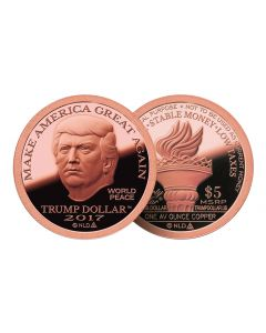 2017 Copper MAGA Trump Dollar